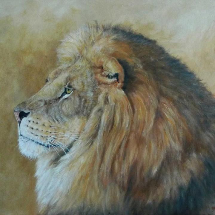 Lion penseur