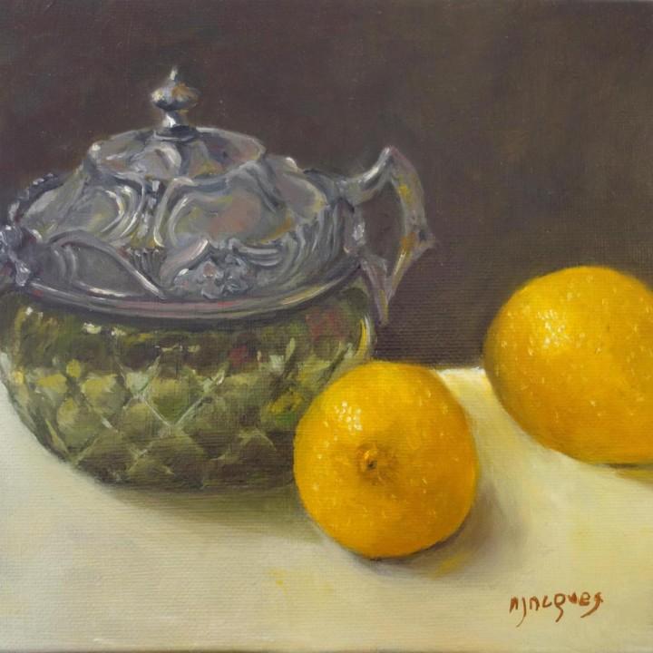 Sucrier et citrons