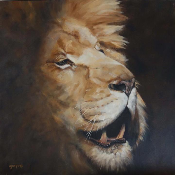 Portrait Lion rugissant