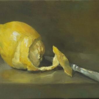 Citron et couteau