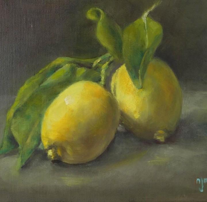 Citrons et feuilles
