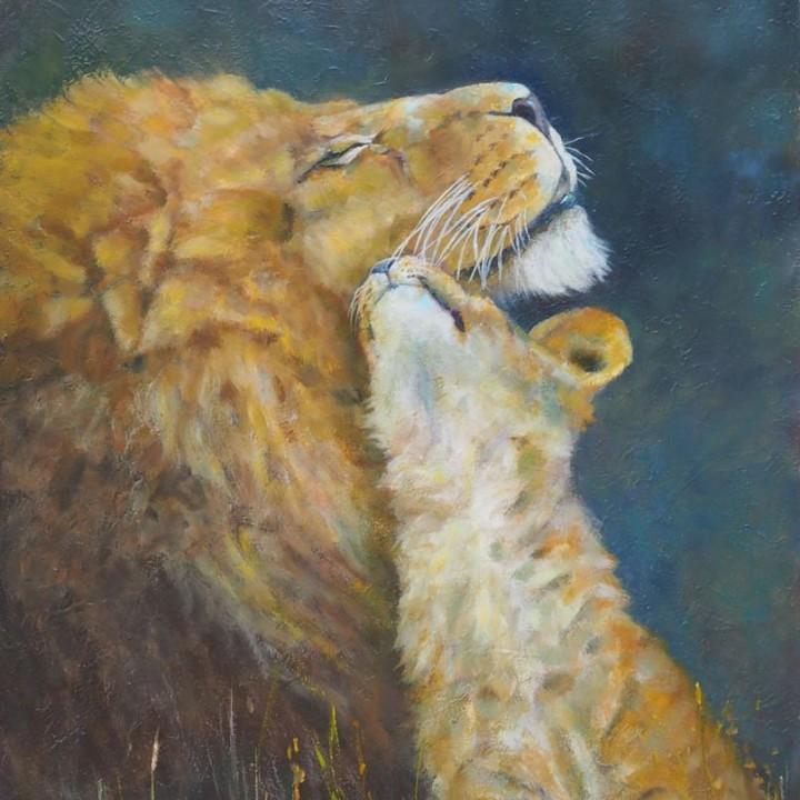 Lion et son petit